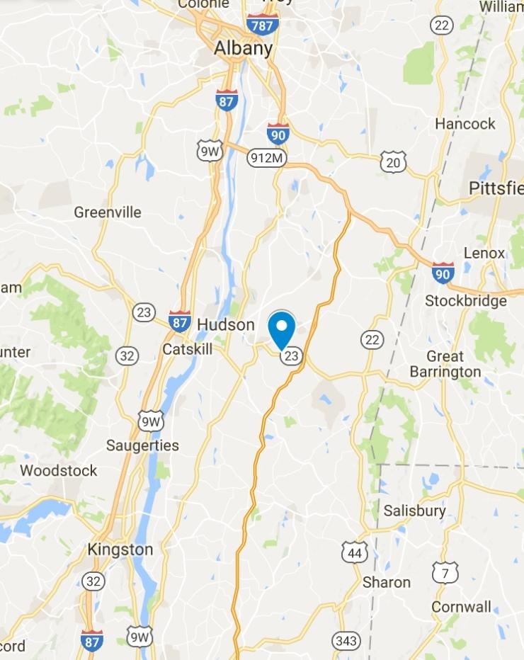 Claverack property location map